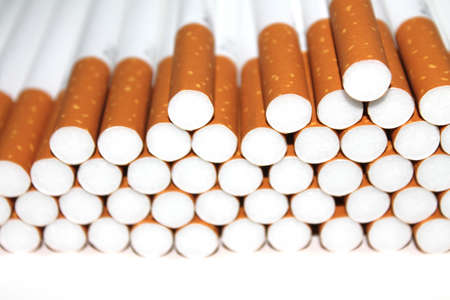 stock photographs: Cigarette Tubes Isolated on white colored background Stock Photo