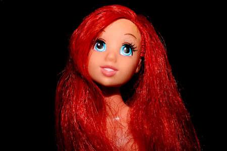 Colorful composition with A Barbie doll Reklamní fotografie