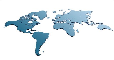 3d world map Stock Photo - 747401