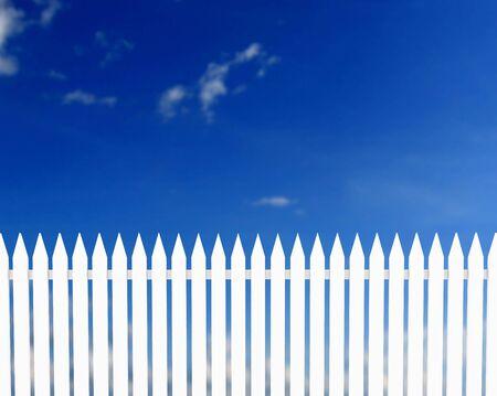Weißen Zaun Standard-Bild - 939206