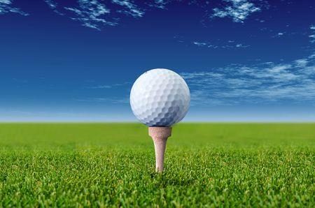 golf ball Standard-Bild