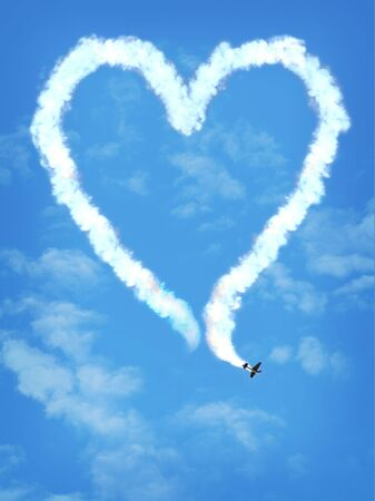 love plane Banco de Imagens