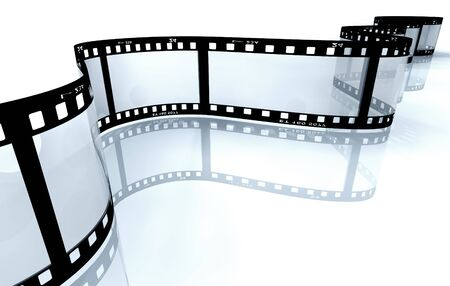 白にあるフィルム ストリップ