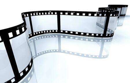 Filmstreifen auf weiß  Standard-Bild - 7975787