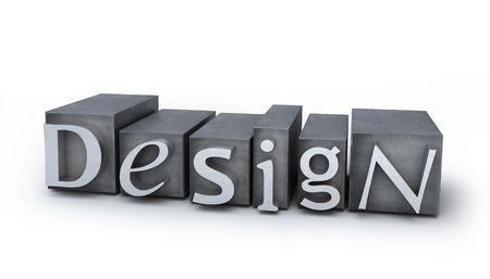 Design aus Schreibmaschine Buchstaben  Standard-Bild - 7975810
