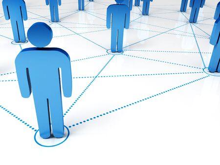 solidaridad: procesamiento 3D de s�mbolos de personas conectadas