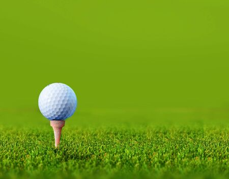 golf green: golf ball with space for copy