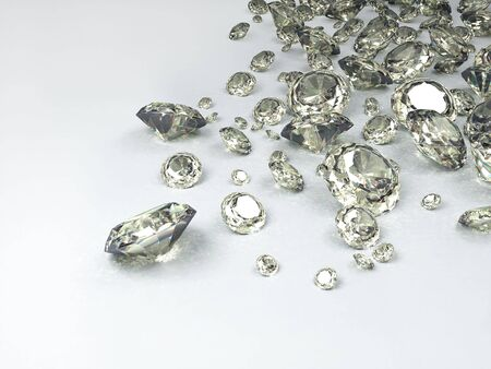 diamonds on white background Banco de Imagens