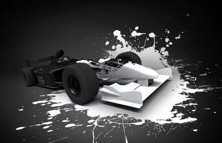 formula race car splash photo