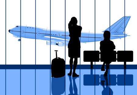 people Waiting for the flight  Banco de Imagens - 7975863