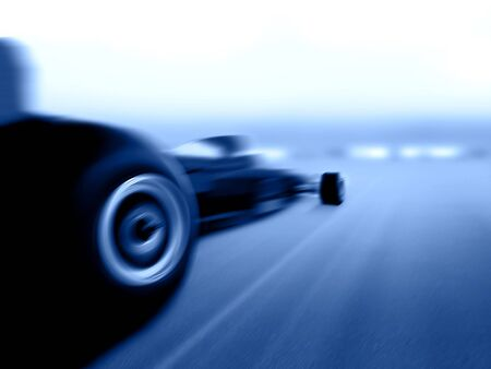 スピード違反のフォーミュラ 1 カー 写真素材