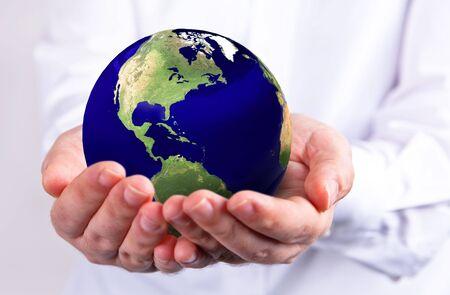 Holding the globe Standard-Bild - 7975888