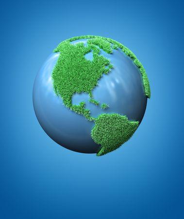 緑の地球の概念 写真素材