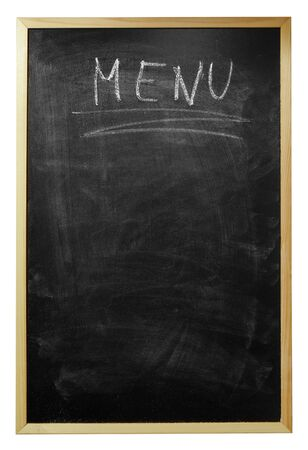 menu written on billboard Stock Photo - 7976016