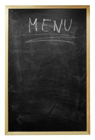 menu written on billboard Stock Photo - 7976016