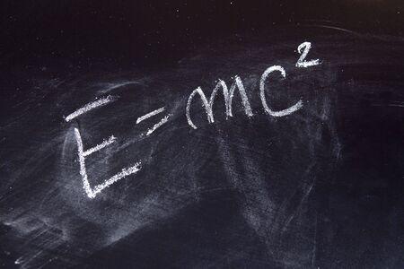 energy formula on chalkboard photo