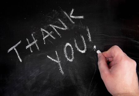 hand writing thank you Banco de Imagens - 7976010