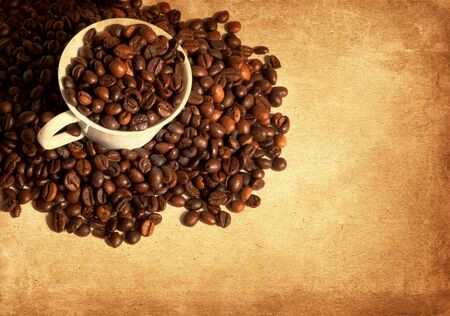 vintage coffee background Banco de Imagens