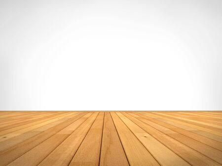 empty clean interior with a wooden floor