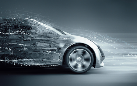 car splashing Stock Photo