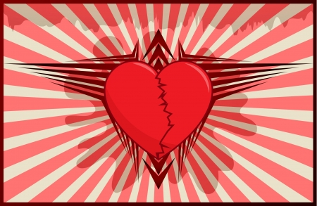 Heart and wings Vector