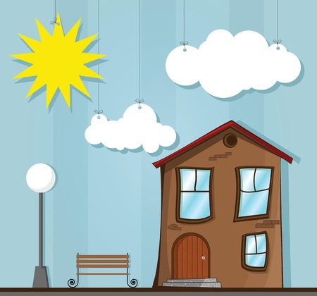 drawing house Vector