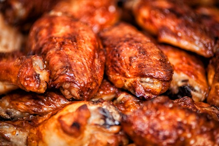 Hot buffalo style chicken wings