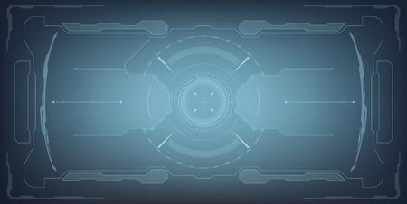 Sci-Fi Futuristic Glowing HUD Display. Vitrual Reality