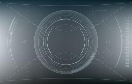 Sci-Fi Futuristic Glowing HUD Display. Vitrual Reality Vetores