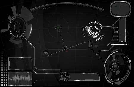 Sci-Fi Futuristic Glowing HUD Display. Vitrual Reality Technology Screen