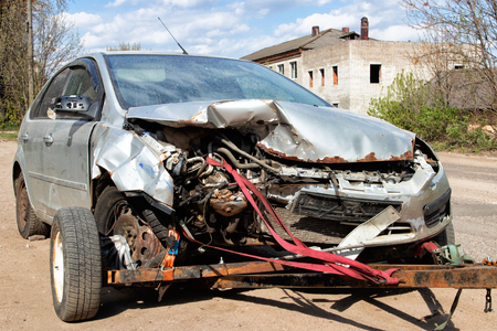 Car crashed in serious accident