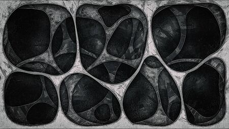 Geometrical background. Imitation of a pencil drawing