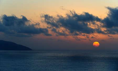 Tropical sunset photo