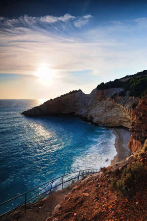 Sunset in Lefkada photo