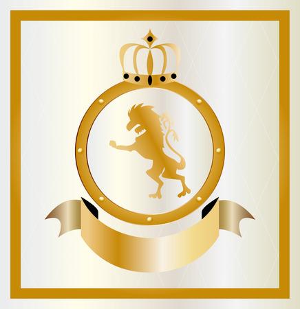 金の紋章のイラスト