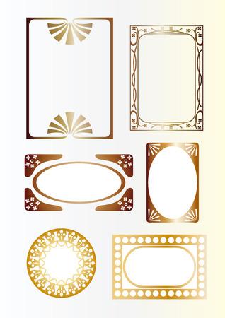 rimmed: Gold frame