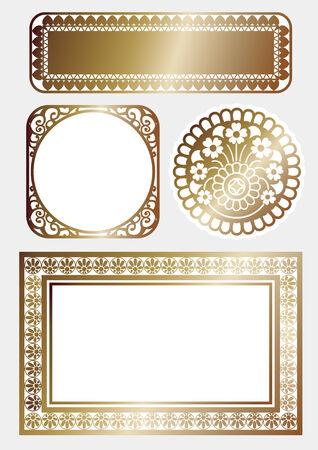 rimmed: Marco del oro