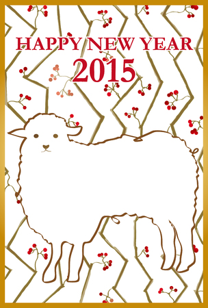 new year s card: It is the material of the New Year s card