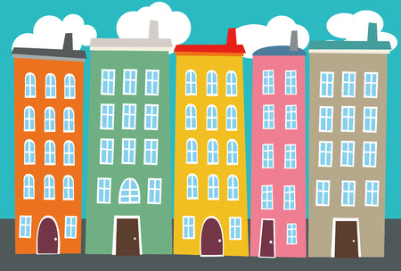 It is an illustration of the cityscape  Vector