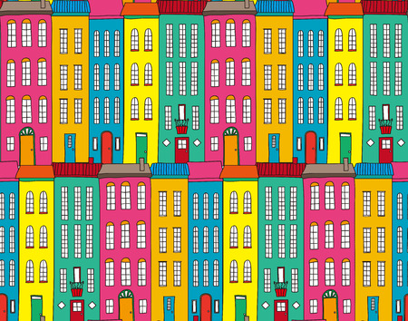 Illustration of flashy streets