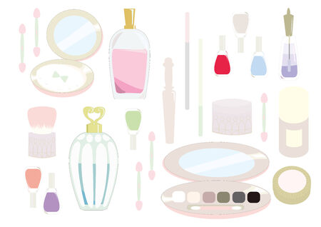 It is an illustration of cosmetics. Vector
