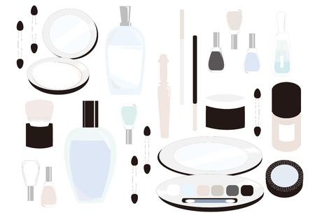 化粧品のイラストです。