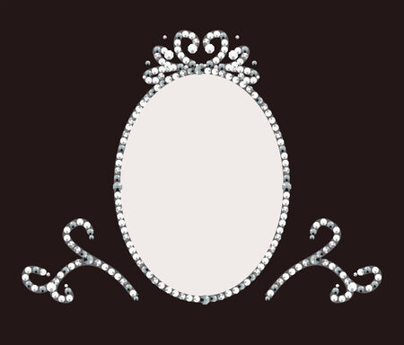 rhinestone: It is an illustration of the frame of jewelry. Illustration