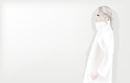 It is an illustration of women of winter.