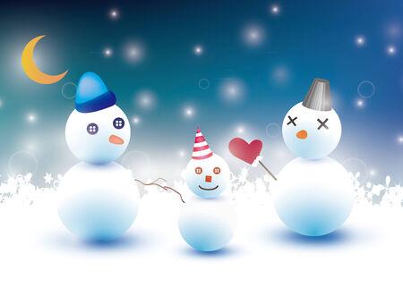 Illustration of a quiet winter night.  イラスト・ベクター素材