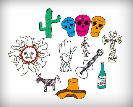 これは、メキシコのアイコンのイラストです。