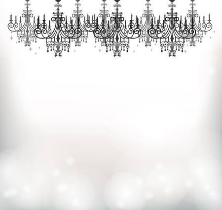 This is an illustration of the chandelier. Vector