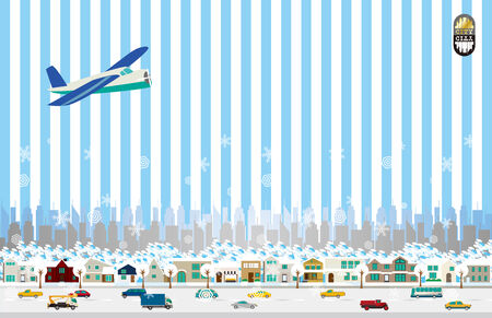It is an illustration of the cityscape. Vector
