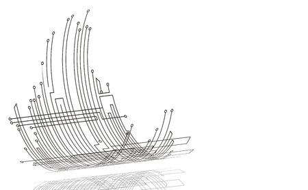 これは、抽象的なテクノロジーのイラストです。