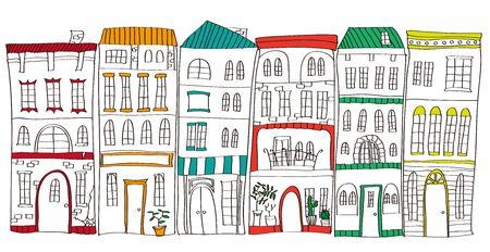 콘도: It is an illustration of the cityscape.
